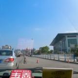 丹陽駅が見えてきました(復路)@中国丹陽のタクシー